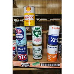 7 Collectible Quart Oil Cans