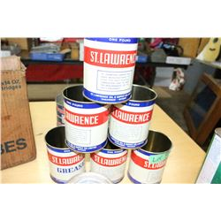 6 St. Lawrence Grease Tins