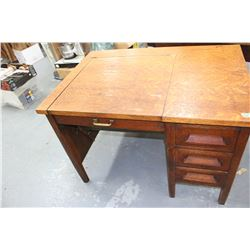 Oak Typewriter Desk