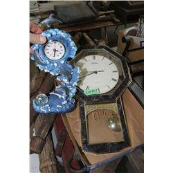 Dolphin Clock & a SkyTimer Battery Operated Wall Clock