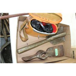 Flat w/Military Shovel, Pick Heat and Binoculars