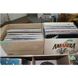 2 Boxes of 33 RPM Records - Mostly Classic Rock - Seager, Cohen, Powder Blues, etc.
