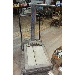 Antique Platform Scale - Complete w/Weights