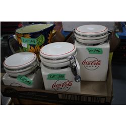 Flat of Coca Cola Cannisters