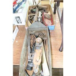 2 Flats of Vintage Tools
