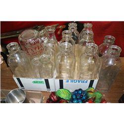 11 Milk Bottles & 7 Cream Bottles