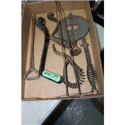 Flat of Wood Stove Tools