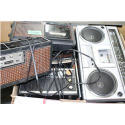 Box of Vintage Transistor Radios