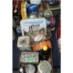 2 Flats of Collectible Tins