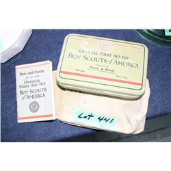 1932 Boy Scouts of America Official First Aid Kit - in a Canvas Pouch w/Booklet