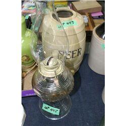 Beehive Font Oil Lamp