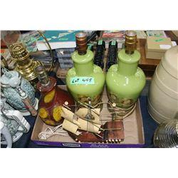 4 Vintage Electric Lamps