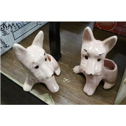 2 Scottie Dog Planters