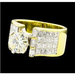 4.07 ctw Diamond Ring - 18KT Yellow Gold