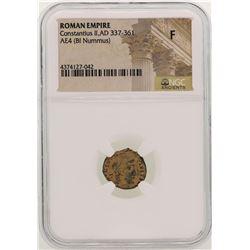 Constantius II 337-361 AD Ancient Roman Empire Coin NGC F