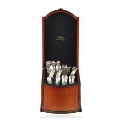 Tiffany & Co. Sterling Silver Flatware 1885 English King 70 PCS Mono D