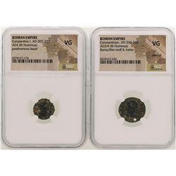Constantine I & Constantinian AD 307-340 Ancient Roman Empire Coins NGC VG