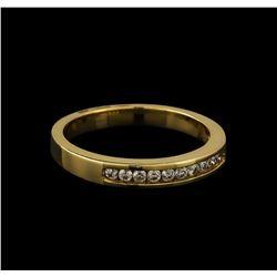 0.18 ctw Diamond Band Ring - 14KT Yellow Gold