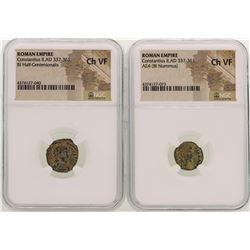 Lot of Constantius II A.D 337-361 Ancient Roman Empire Coins NGC  CH VF
