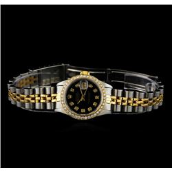 Rolex 18KT Two-Tone Diamond DateJust Ladies Watch