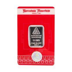 Narrondass Manordass Silver 10 Gram Swiss Credit