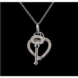0.45 ctw Diamond Necklace - 14KT White Gold