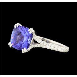 1.77 ctw Tanzanite and Diamond Ring - Platinum