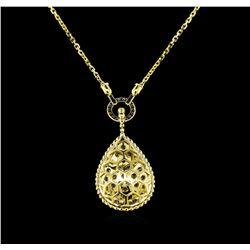 2.30 ctw Diamond Necklace - 14KT Yellow Gold