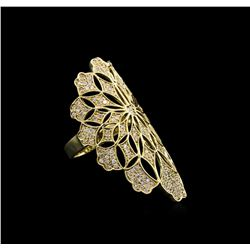 1.12 ctw Diamond Ring - 14KT Yellow Gold