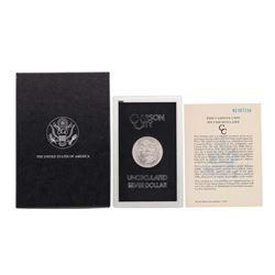 1882-CC $1 Morgan Silver Dollar Coin Uncirculated w Box GSA & COA