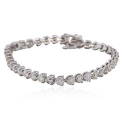 14KT White Gold 8.47 ctw Diamond Tennis  Bracelet