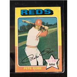 1975 TOPPS #320 PETE ROSE CINCINNATI REDS NL ALL STAR BASEBALL CARD