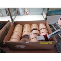 """Case of 20 Rolls of 2"""" Tape with Tape Gun"""