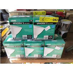 5 New LED PAR 38 Spotlight Bulbs