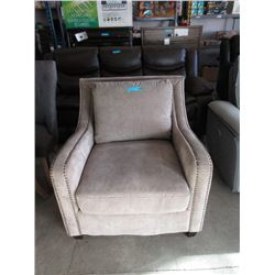 New Fabric Upholstered Armchair - Nail Head Detail