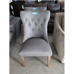New Fabric Button Tufted Armchair