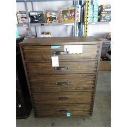 New 5 Drawer Wood Dresser