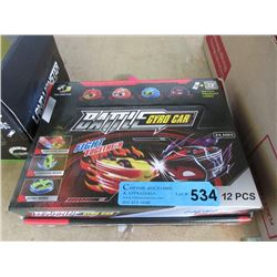 Case of 12 new Battle Gyro Cars