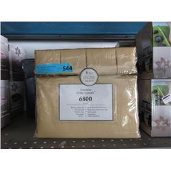 New King Size 6 Piece Bamboo Sheet Set - Caramel