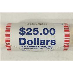 $25 ROLL OF 2009 JOHN TYLER PRESIDENTIAL DOLLARS