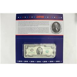 2010 NEW YORK $2 SINGLE NOTE 2003-A SERIAL #
