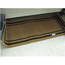 Brown & Black Long Entry Rug