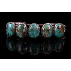 Navajo Sterling Pilot Mountain Turquoise Bracelet