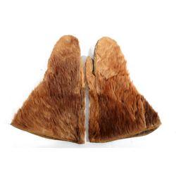 Bear Hide Stagecoach Driver Gauntlet Gloves