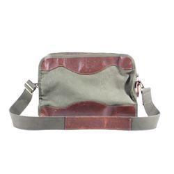 Gokey Canvas and Leather Laptop Travel Bag