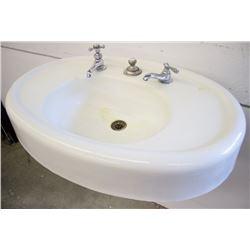 Antique Wrought Iron & Porcelain Sink