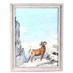 Original Rocky Mountain West Oil Painting
