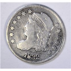 1832 CAPPED BUST HALF DIME FINE