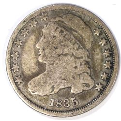 1835 CAPPED BUST DIME VG