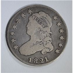 1821 BUST QUARTER, FINE